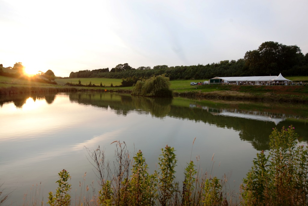 A tranquil venue, with a lovely lakeside view